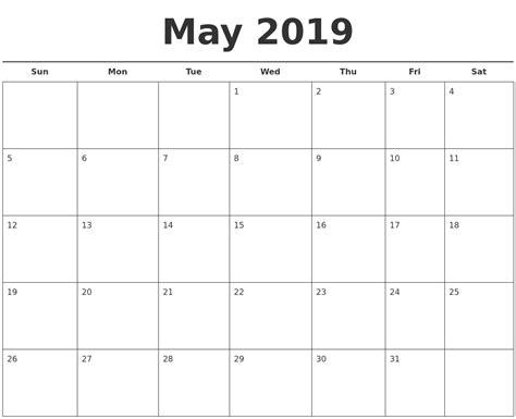 More Calendars August 2019 Monthly Calendar Template