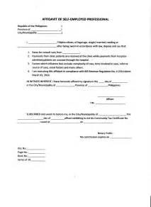 affidavit of loss template simple affidavit sle marriage affidavit letter sle