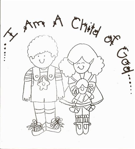 I Am A Child Of God Coloring Page i am a child of god coloring page coloring pages