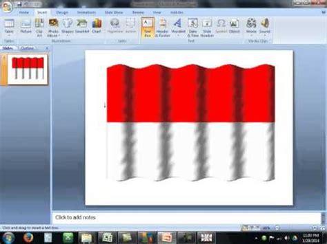 membuat gambar bendera bergerak tutorial cara membuat animasi bendera di power point youtube