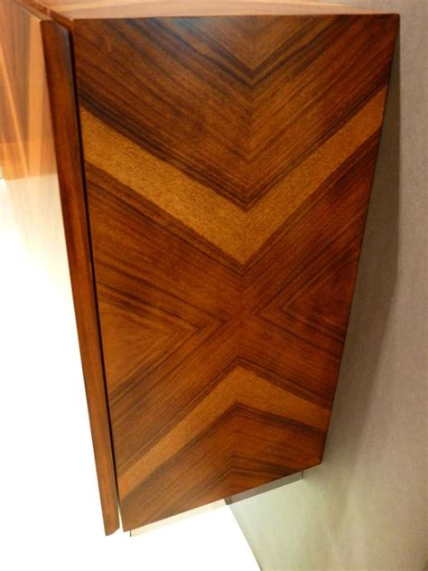 Wall Mounted Bar Cabinet Wall Mounted Rosewood Bar Cabinet Or Console By Milo Baughman At 1stdibs