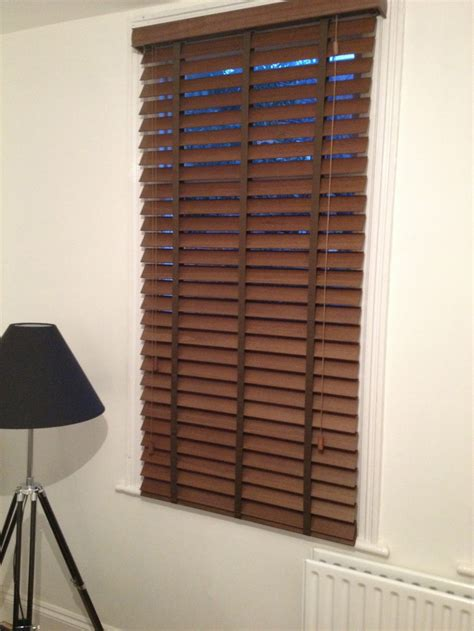 Wooden Slat Blinds 50mm Slat Wood Venetian Blind With For The Home