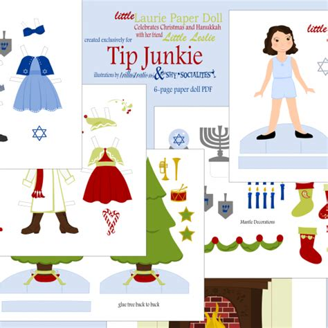 free printable santa paper dolls free christmas paper dolls just print and give