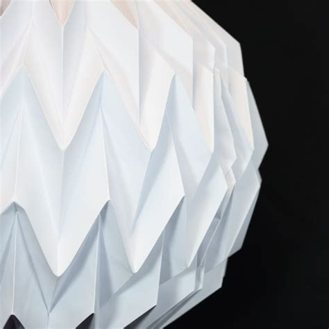 Shaped Paper Folding - white geometrical shaped folding paper lantern shade