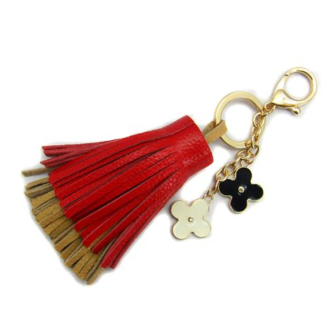 Handmade Leather Accessories - handmade real leather lambskin tassel pendant charm key