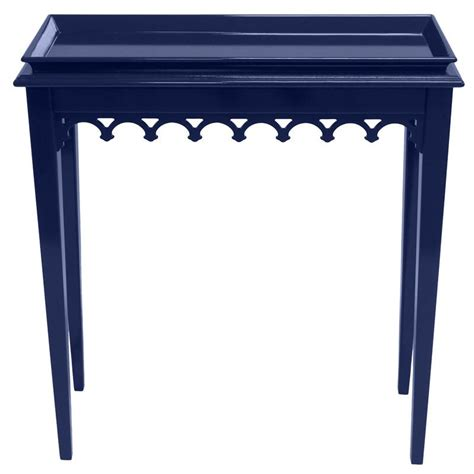 navy console table newport mini lacquer console table navy blue 16 colors available scenario home