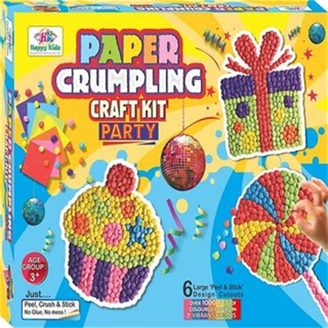 paper crumpling craft and craft paper crumpling craft kit for