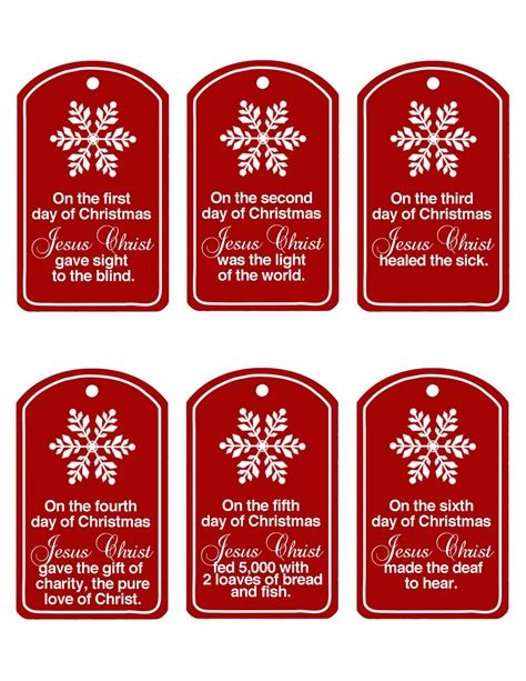 12 days of christmas gift tags family home centered 12 days of updated