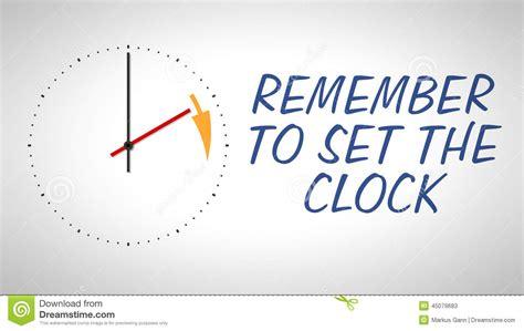 daylight saving time stock illustration image