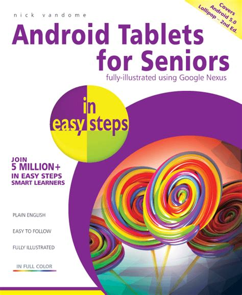 my for seniors 5th edition books in easy steps android tablets for seniors in easy steps