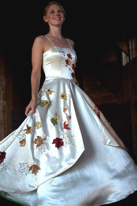 White Leaf Wedding Dresses by Fall Wedding Fall Wedding 2184290 Weddbook