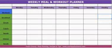 Fitness Planner Template Meal Planner