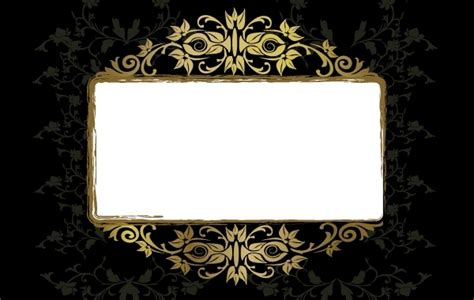 Free Vectors Grungy Vintage Floral Frame Template Gianferdinand Photo Frame Template