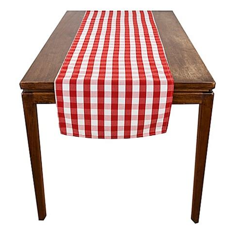 table runners bed bath and beyond riegel 174 red check table runner bed bath beyond
