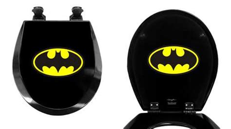 batman toilet seat the furniture cove black finish toilet seat w