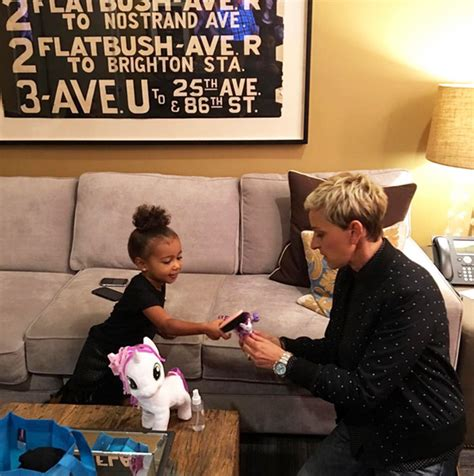 ellen degeneres zelle pic north west plays my little pony with ellen degeneres