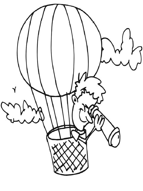 Hot Air Balloons Coloring Pages Download And Print Hot Air Balloon Coloring Page