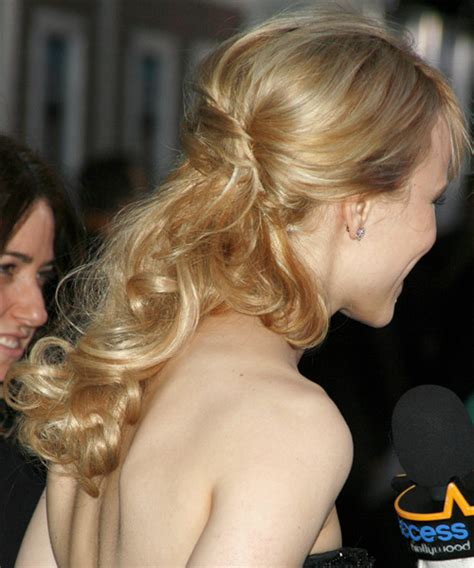 rachel haircut pictures back view rachel mcadams half up long curly formal half up hairstyle