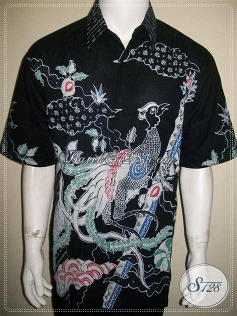 Gfp Kemeja Pria Terbaru Lengan Pendek Katun Hitam Sht 795 kemeja batik pria motif burung terbaru warna hitam lengan