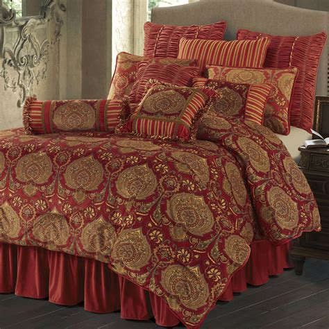 red and gold bedding lorenza medallion dark red velvet comforter bedding