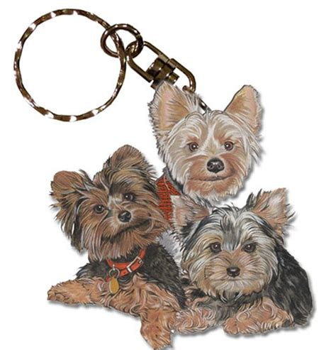 yorkie keychain yorkie wooden breed keychain key ring ebay