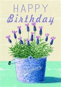 lavender happy birthday birthday card pp1114