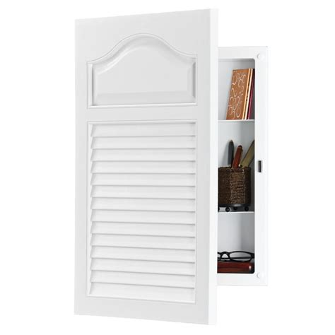 louvered cabinet doors lowes shop broan louver doors 24 5 in h x 16 25 in w white