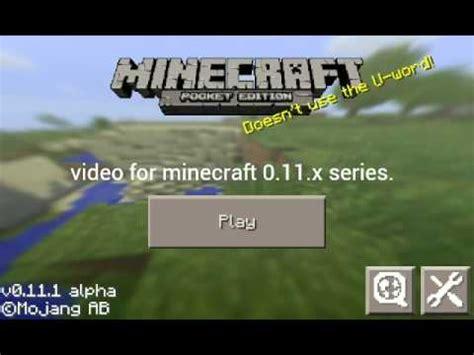 minecraft pe 0.11.1 apk (updated) youtube