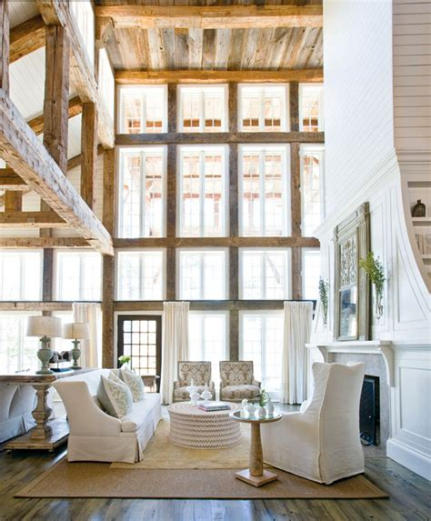 exposed wood beams chic design trend exposed beams