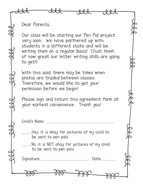 Parent Permission Letter To Read A Book 95 Best Live United Pen Pal Program Images On School Cards And Writing