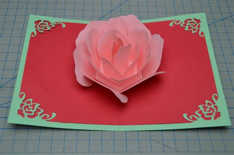 how to make a valentines day card flower pop up card tutorial creative pop up cards