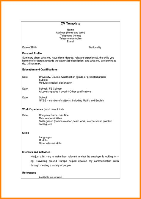 cv template south africa resumes cv template 2013 south africa gallery certificate design
