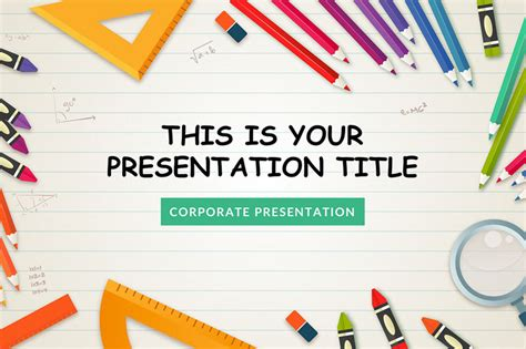 50 Best Free Powerpoint Templates On Behance Free School Powerpoint Templates