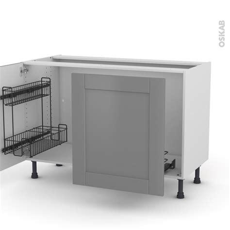 le cuisine sous meuble meuble de cuisine sous 233 vier filipen gris 2 portes