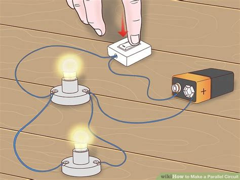 how to make a electric circuit how to make a parallel circuit with pictures wikihow