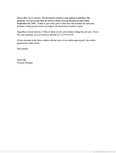 Ending Rental Agreement Letter Sles Printable End Of Lease Letter Template 2015 Sle Forms