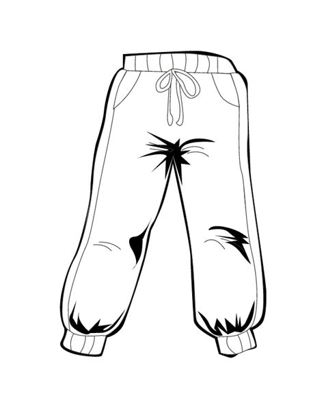 pants coloring page coloring home