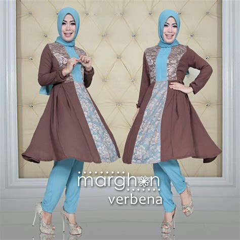 Agoest Pant Brown verbena d brown baju muslim gamis modern