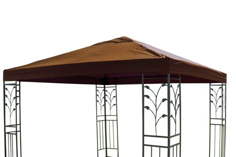 pavillon oder pavillion pavillon ersatzdach 3 x 3 m taupe braun dach pavillon