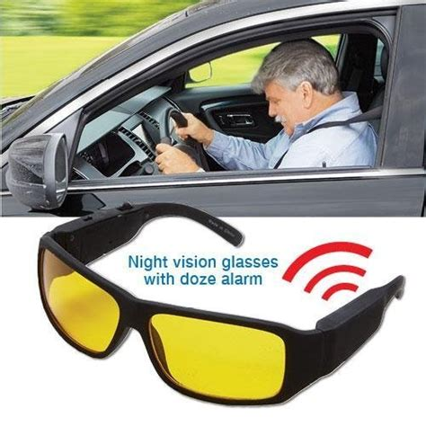 Driving Alarm kissmart vision anti glare with driver sleepy alert doze alarm safety glasses emergency