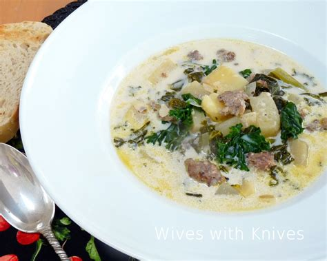 Olive Garden Kale Soup by Zuppa Toscana With Knives