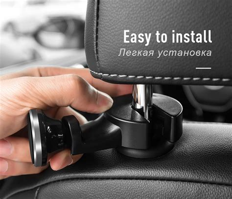 Exclusive Hoco Magnetic Car Holder W 3 In 1 Charger Cable P8 Pali hoco ca18 car back seat holder gold