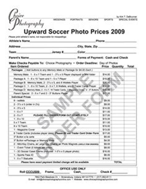 youth sports photography templates print order form template ideas free stuff