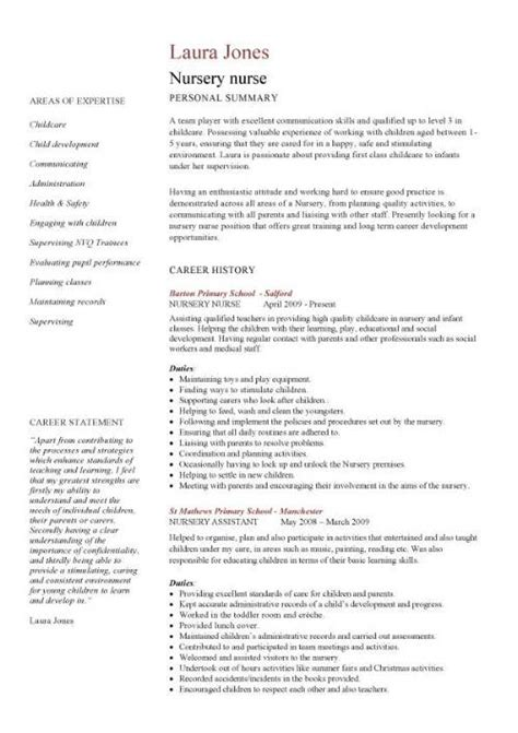 Curriculum Vitae Resume Sles For Nurses Academic Cv Template Curriculum Vitae Academic Cvs Student Application Cv