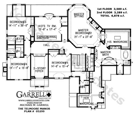 garrell floor plans telmoore manor 05299 house plans by garrell