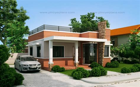 rommell one storey modern with roof deck pinoy eplans