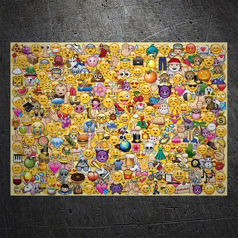 Stickerbomb Aufkleber by Emoji Sticker Bomb Webwandtattoo