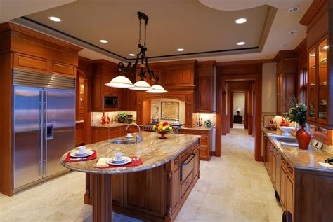big island kitchen colonial cream granite installed design photos and reviews