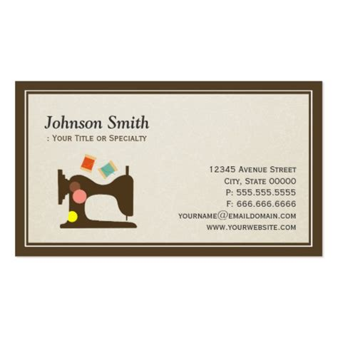 tailoring and alterations business cards template seamstress tailor sewing machine simple chic business card