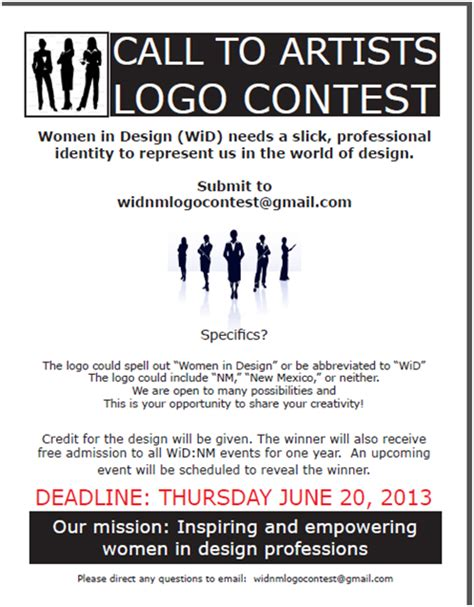 design contest flyer women in design new mexico women in design nm logo contest